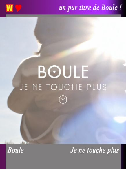 Je ne touche plus by Boule